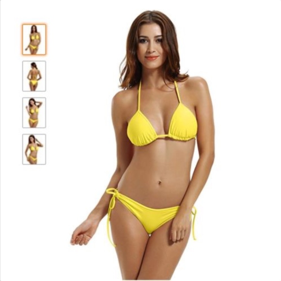 Nwt Zeraca Womens Yellow Medium Bikini